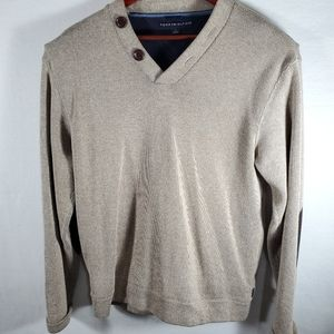 Tommy Hilfiger Men's Tan Pullover Sweater Sz M